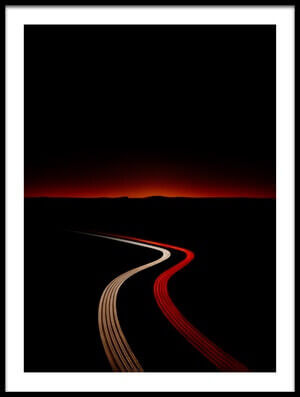 Art print titled Glowing Path by the artist Nadav Jonas
