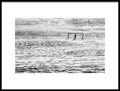 Art print titled Goalie by the artist Humusak