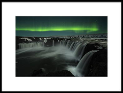 Art print titled Godafoss by the artist Jingshu Zhu