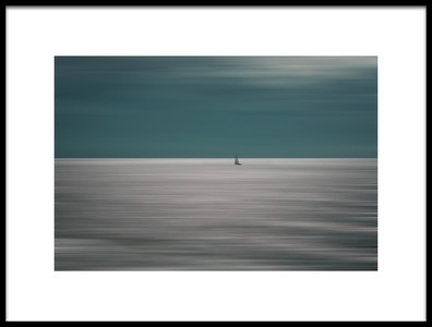 Art print titled Going for the Horizon by the artist Bernardine de Laat
