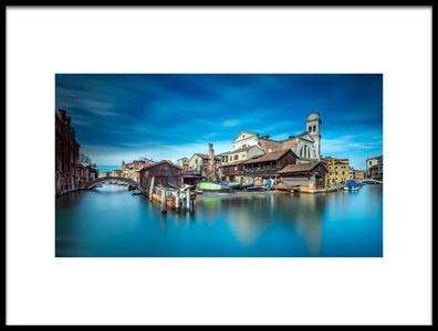 Art print titled Gondola Workshop In Venice by the artist Sven Kohnke