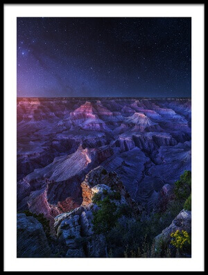 Art print titled Grand Canyon Night by the artist Juan Pablo de Miguel