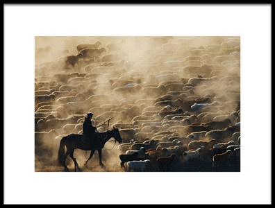 Buy this art print titled Grazing In the Morning by the artist Adam Chen
