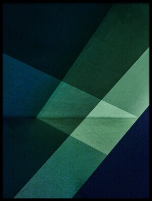 Buy this art print titled Green and Blue by the artist Inge Schuster