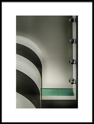 Art print titled Green Line by the artist Eric Mattheyses