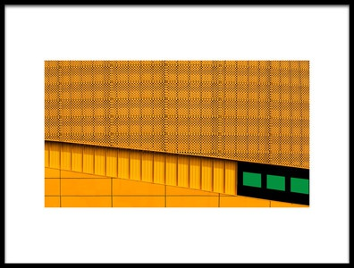Art print titled Green Rectangles by the artist Eric Mattheyses