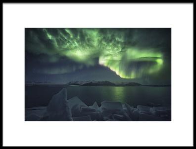 Art print titled Green Storm by the artist Carlos F. Turienzo