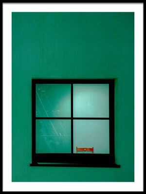 Art print titled Green Window by the artist Inge Schuster