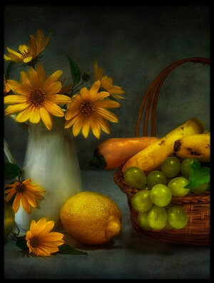 Art print titled Greens, Yellows,  by the artist Fran Osuna