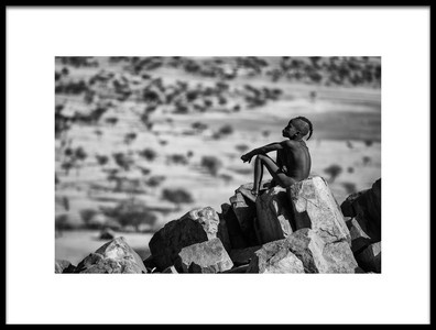 Art print titled Guardian of the Kaokoland by the artist Goran Jovic