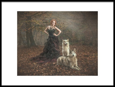 Art print titled Guardian of the Woods by the artist Chris Netton