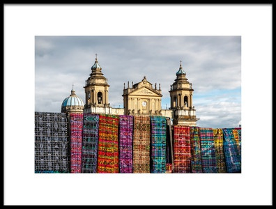 Art print titled Guatemala City Cathedral by the artist Francisco Mendoza Ruiz