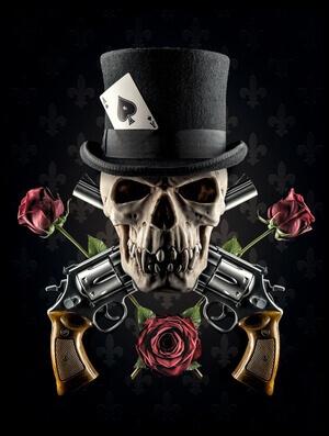 Art print titled Guns and Roses by the artist Petri Damstén