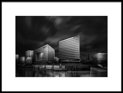 Art print titled Hafencity and SPIEGEL Office Building by the artist Matthias Hefner