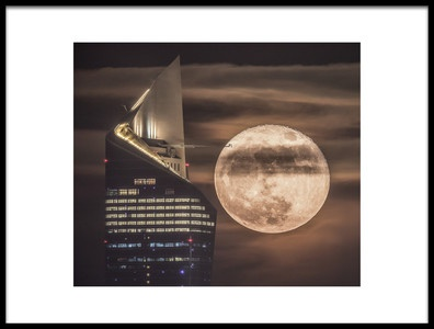 Art print titled Handling the SuperMoon by the artist Faisal ALnomas