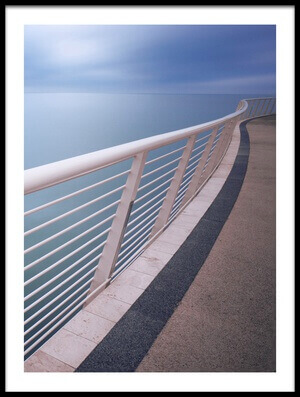 Buy this art print titled Handrail Above Sea by the artist Damiano Serra