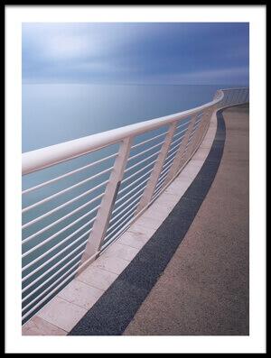 Art print titled Handrail Above Sea by the artist Damiano Serra