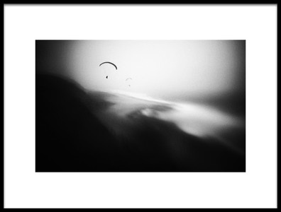 Art print titled Hang Gliders by the artist Marianne Siff Kusk