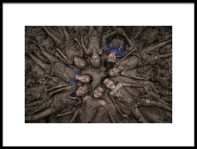 Art print titled Happy Childrens by the artist Daniel Saputra