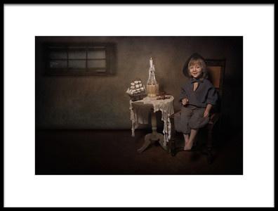 Art print titled Happy Little Boy by the artist Carola Kayen-Mouthaan