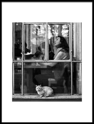 Art print titled Happy Window by the artist Nihal Eken