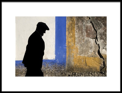 Art print titled Hat Thinking Man by the artist Vasco Trancoso