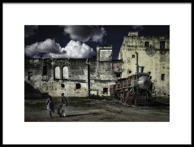 Art print titled Havana Train by the artist Andreas Bauer