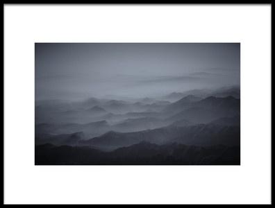 Art print titled Haze Over Tibet by the artist Martin Van Hoecke