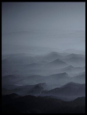 Art print titled Haze Over Tibet by the artist Martin Van Hoecke
