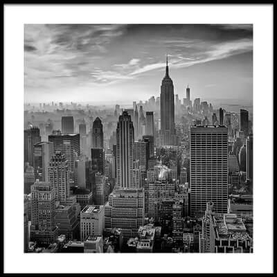 Art print titled Hazy Gotham by the artist Stefan Schilbe