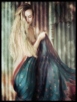 Art print titled Hear the Rustle of Her Silk, Wait for Her by the artist Charlaine Gerber