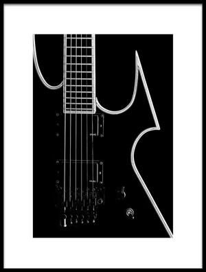 Buy this art print titled Heavy Metal Guitar by the artist Staab Franz