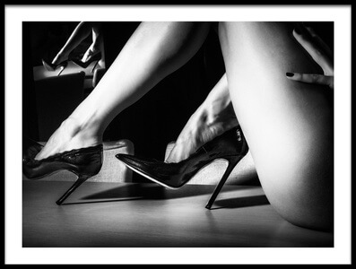 Art print titled Heels by the artist Paolo Carlo