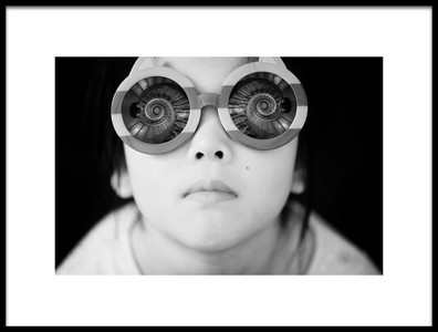 Art print titled Helical Glasses by the artist Takashi Suzuki