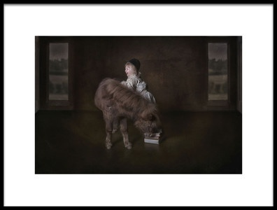 Art print titled Helping My Little Friend by the artist Carola Kayen-Mouthaan