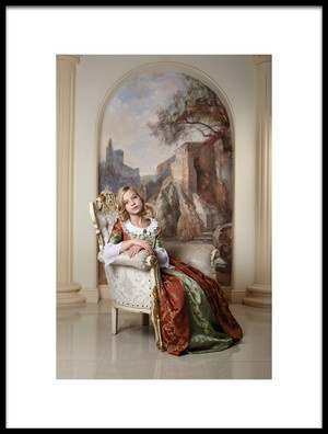 Art print titled Her  Highness by the artist Victoria Ivanova