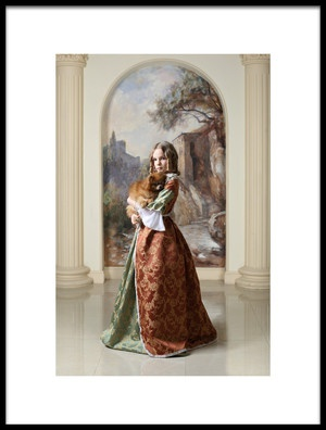 Art print titled Her  Highness and the Doggy by the artist Victoria Ivanova