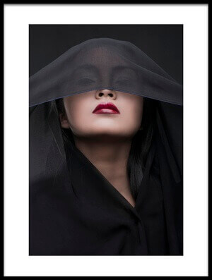 Art print titled Her Red Lips by the artist Faldhy Boer