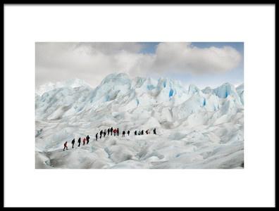 Art print titled Hiking On Perito Moreno by the artist Roberto Oggiano