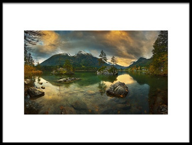 Art print titled Hintersee by the artist Krzysztof Browko