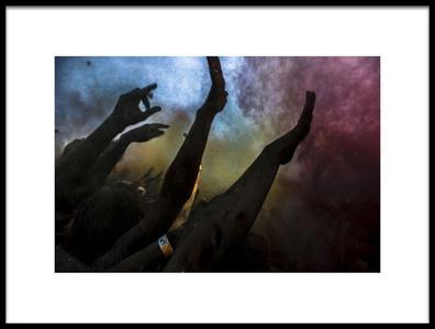 Buy this art print titled Holi  Festival of Colours by the artist Vyacheslav Klimentyev