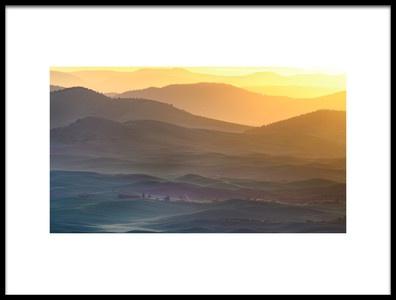 Art print titled Horizon Profile of Palouse by the artist 李从军 / Austin Li