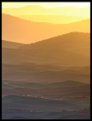 Art print titled Horizon Profile of Palouse by the artist 李从军 / Austin Li