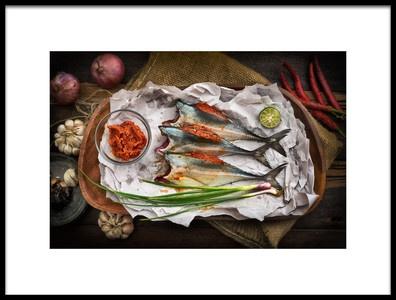Buy this art print titled Horse Mackerel by the artist Jordan Lye