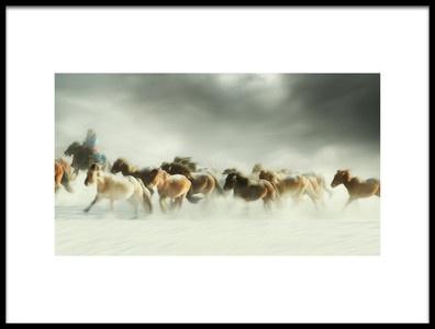 Buy this art print titled Horses Gallop by the artist Shu-Guang Yang