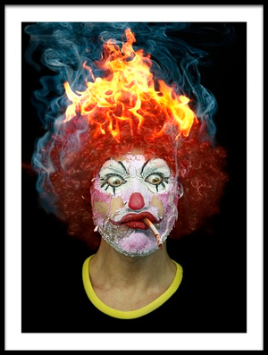 Art print titled Hot Clown by the artist DDiArte