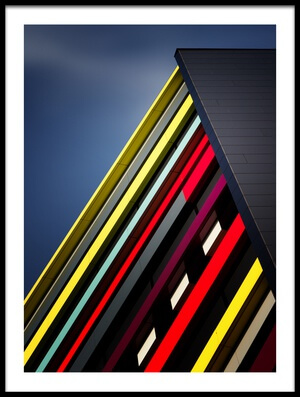 Art print titled House of Colours by the artist Jeroen van de Wiel