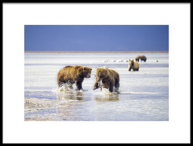 Art print titled Hunting Bears by the artist Roberto Marchegiani