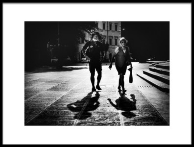 Art print titled Husband and Wife by the artist Massimiliano Mancini