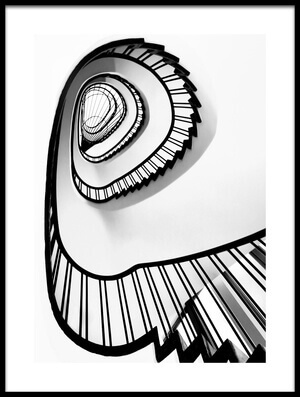 Art print titled Hypnotic Stairs by the artist Ercan Sahin